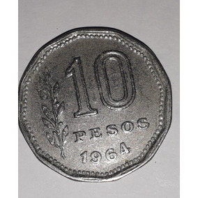 Moeda 10 Pesos Argentina 1964