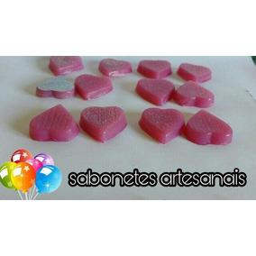 Sabonetes Artesanais-corações Chá De Bebe