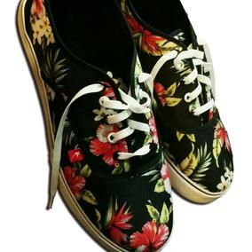 Flores Negras Para Tortas - Zapatillas Vans de Mujer en Mercado ... 2b8c2d532d3