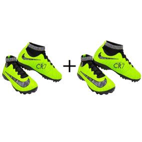 5e9b194f39 Chuteira Nike Cano Alto Verde Limao - Chuteiras no Mercado Livre Brasil