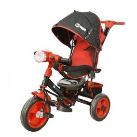 Triciclo 2 En 1 Con Toldo Y Empujador Rojo Ws610r Go Kids
