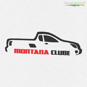 Kit 3x Adesivo Clube Montana Carro Personalizado 22cm A204