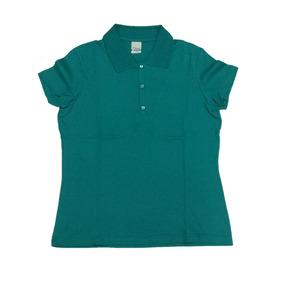 Camiseta Polo Básica Feminina Lisa Sem Bolso M Verde Malwee 41d7d4e08a913