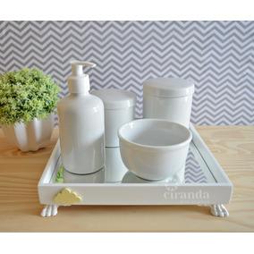 ec7c03f95 Kit Higiene Bebe Porcelana Amarelo Banho Saude - Bebês no Mercado ...