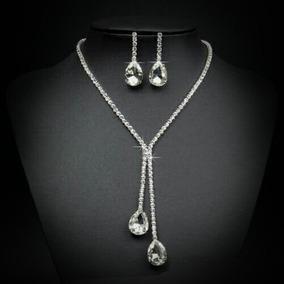 Set Collar Y Aretes Cristal Austriaco, Regalo Navidad Envíog