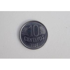 Moeda Reverso Invertido 10 Centavos Ano 1994-mbc