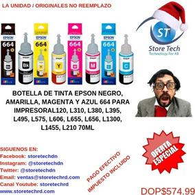 Botella De Tinta Epson Negro, Amarillo, Magenta Y Azul 664 P