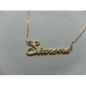 Corrente De Ouro Com Nome Simone - Colar Feminino no Mercado Livre ... 67276a9151