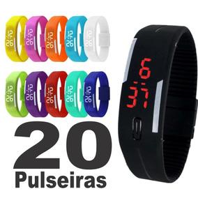 Kit 20 Pulseira Relógio Digital Led Sport Atacado Oferta !!