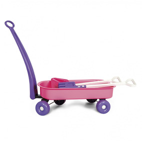 Brinquedo Infantil Carriola - Poliplac - Rosa