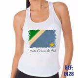 Camiseta Regata Nadador Mato Grosso Do Sul Bandeira Ms