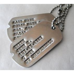 Dog Tag Placa Feb Corte V Clássico 2ª Guerra Mundial