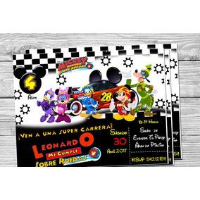 Cumple Aventuras Sobre Ruedas Mickey Souvenirs Para Cumpleanos