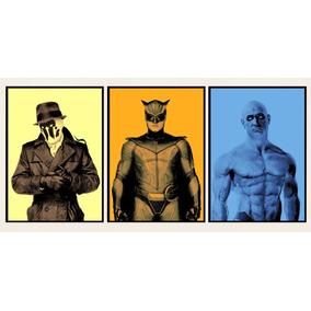 Conjundo 3 Placa Poster Watchmen Horshack Manhattan Coruja