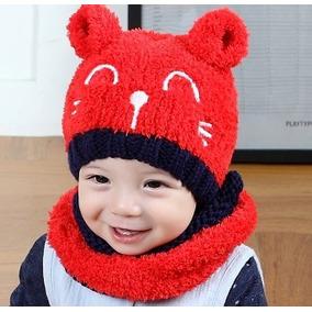Touca + Gola Gatinho Bebê Gorro Crochet Frio Inverno 2020dc15212