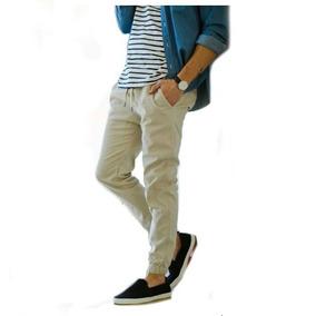 b02d8e2ff Calca Jogger Jeans - Calças Jeans Bege no Mercado Livre Brasil