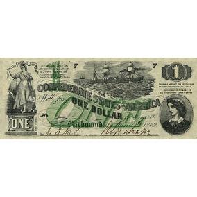 Réplica Cédulas De Dólar Confederado - Pack 10 Cédulas
