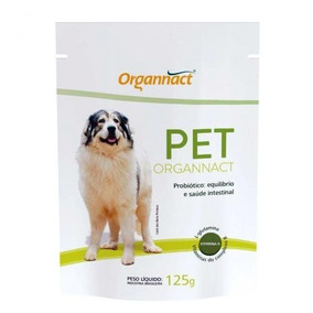 Pet Organnact Probiótico 125g Suplemento Cães