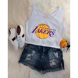 Regata Basquete Feminina Lakers no Mercado Livre Brasil 9eaaa5551