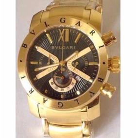 Relógio Bvlgari Iron Man X Limited Dourado Prata Preto
