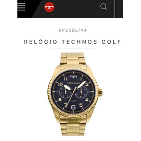 Relogio Technos Dourado Golf. Novo