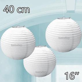 10 Pantallas Chinas 16 Pulgadas 40cm Blanca Linterna Lampara
