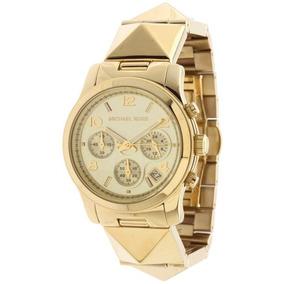 c2151cb14a5f8 Michael Kors Runway Mk 5662 Crystal Pave Mk Rose Gold - Relógios De ...
