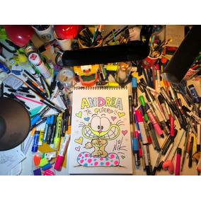 Dibujo Original De Gaturro Dedicado Por Nik En Papel Premium