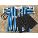 Camisa E Short Infantil Do Grêmio