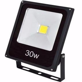 4un Refletor Led Ip66 30w Holofote Bivolt Branco Frio