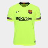Camisa Barcelona Nike Verde Limão - Camisa Barcelona Masculina no ... 5c8a7ee3a28