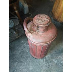Bidón Antiguo Para Combustible West India Oil Company 20