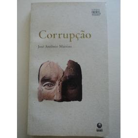 Livro-corrupção:josé Antônio Martins:filosofia Frente,verso