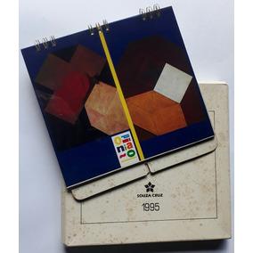 Calendário Souza Cruz 1995 - Opinião Obras De Arte 1995 Raro