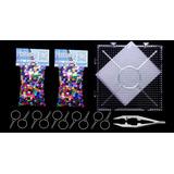 1800 Hama Beads Perler Beads Base Papel Pinzas Llaveros Kbmd