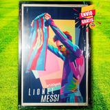 Cuadro Con Ilustración De Messi