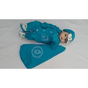 Kit Bebê Saída Maternidade Menino Enxoval Ursinho Azul Turqu