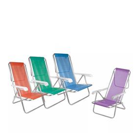 Cadeira Praia Reclinável 8 Posições Alumínio Sannet - Mor
