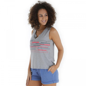 Camiseta Regata Oxer Gym - Feminina - Cor Cinza c8fc660b243