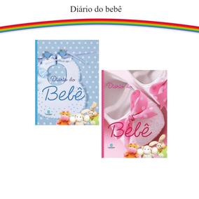 Diário Do Bebê Album De Fotos Anotações Caderneta Rosa Azul