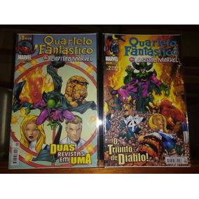 Coleção Completa Quarteto Fantástico Capitão Marvel 1 Ao 18