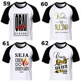 Camisas Evangelica Frases Bíblicas Masculina Kit 10 Barato