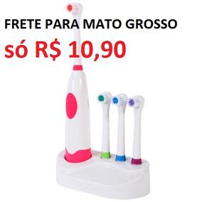 Escova De Dente Elétrica Toothbrush + 3 Refis Extras