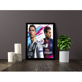 Kit 3 Quadros Decorativos Com Moldura Fifa 19 Cr7