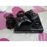 Xbox 360 Slim E 4gb 5.0 + 2 Controles + 4 Juegos