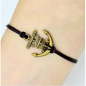 Pulseira Bracelete One Piece Luffy Zoro Metal Tribal Unissex