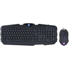 Teclado E Mouse Gamer Striker Azul