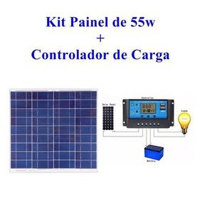 Placa Solar 55w Yingli + Controlador De Carga Solar