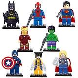 Set 8 Figuras Superheroes Tipo Lego Avengers Marvel Dc