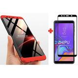 Samsung A7 2018 Estuche 360 De Lujo + Vidrio Templado 5d